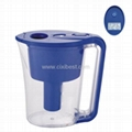 Blue Water Filtering Water Pitcher