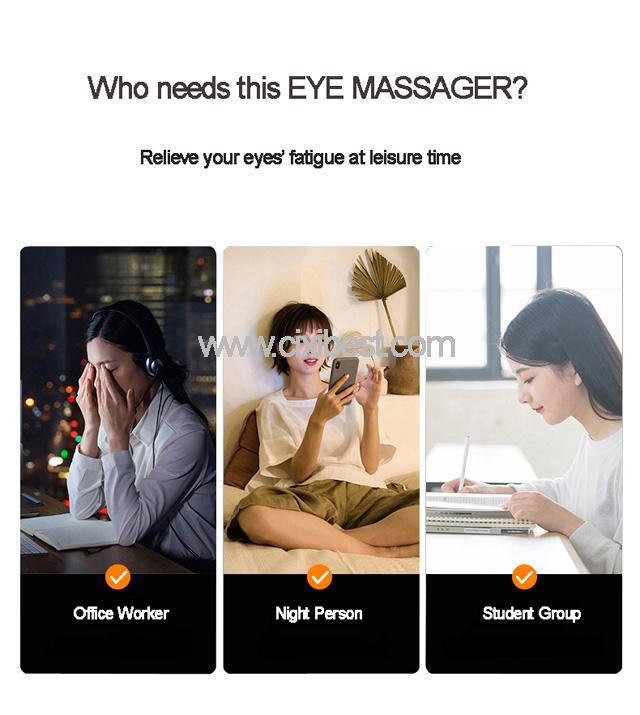 Wireless Vibrating Eye Massager Eye Fatigue Massager JB-018 18