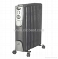 Black Portable Electric Oil Filled Radiator Heater BO-1004B