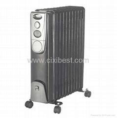 Black Portable Electric Oil Filled Radiator Heater BO-1004B