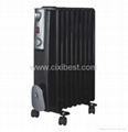 2500W Black Indoor Electric Oil Filled Radiator BO-1005B