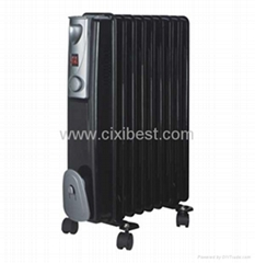 2500W Black Indoor Electric Oil Filled Radiator BO-1005B