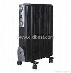 Black Full Room Electric Oil Filled Heater Radiator BO-1005B