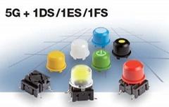 最新产品 mec 按键开关1DS/1ES/1FS