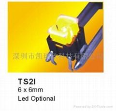 6x6帶LED燈輕觸開關
