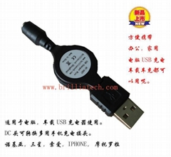 USB Charger Car Charger Wire