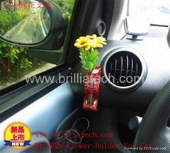 布地蘭汽車精品汽車鮮花固定器車內鮮花支架