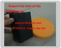 car styling foam applicator sponge clay bar block car wax mud sponge