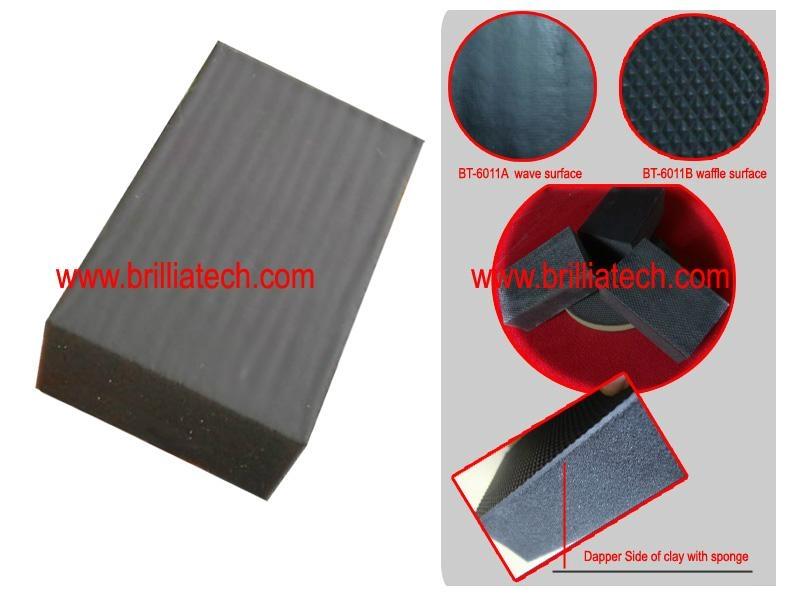 Brilliatech Magic Shine Earser Polishing Buff Clay Block Sponge 4
