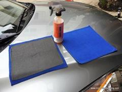 洗车毛巾30*30cm魔泥单面超细纤维擦车布去污短绒吸水除飞漆黑白点
