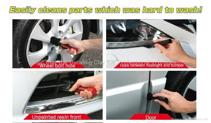 "New Car Washing Tool Brush AutoScrub Towel - 12"" x 12""  1"