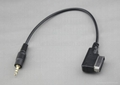 Car Iphone AUX-in Cable for  Audi, VW and Skoda cars
