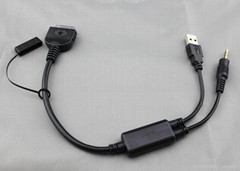 BMW IPHONE IPOD aux-in cable data cable manufactory