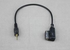 大眾奧迪奔馳寶馬 汽車改裝 車用音頻數據線 車載AUX連線