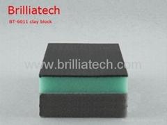 car wash sponge dual color clay bar wax block magic clay block foam applicator