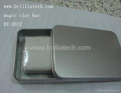 car wash clay bar with metal box blue car cleaning magic clay mud mini handheld