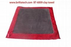 中号洗车泥车用吸水毛巾超细纤维双面红色方形高密度汽车清洁毛巾