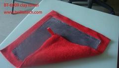 強力吸水去污車用清潔毛巾辮子短絨擦車布雙色雙面高密度魔泥布