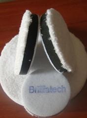 超精細纖維漆面收蠟鍍膜毛巾盤快速氣動日式羊毛球盤汽車美容