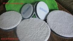 超細纖維仿羊毛盤自粘式毛巾收蠟盤漆面美容拋光還原盤