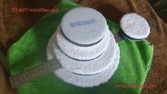 汽車超細纖維海綿收蠟拋光輪日式毛巾擦蠟盤汽車美容電動氣動機盤