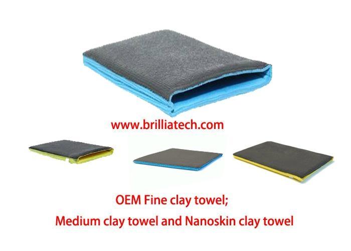 Nanosking towel, Magic Shine Cleaning Clay Cloth Brilliatech 3