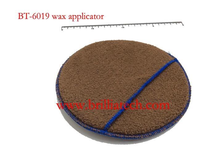 purple wax applicator