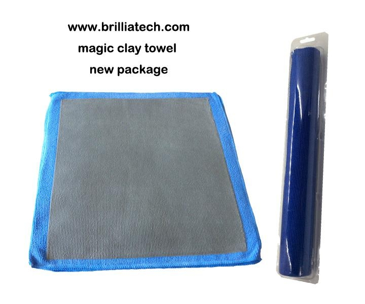 blue new magic clay towel