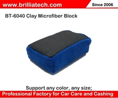 Microfiber Applicator auto care wash car clay bar block for Detailing Polishing