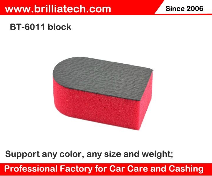 red blue black washing sponge