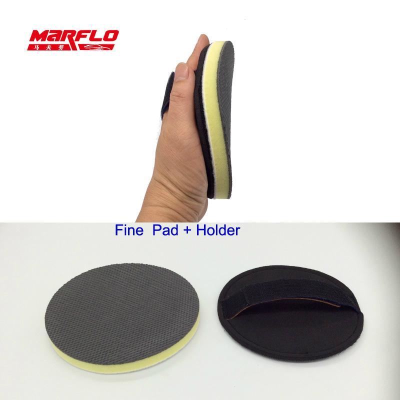 Paint Pad Dispenser ~ Car paint wax applicator magic clay pad holder gloss seal