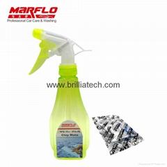 汽車漆面清潔劑瓶潤滑劑2 pc伴侶平板電腦使用魔法粘土