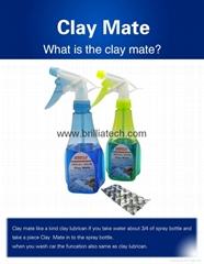 洗车润滑剂魔法的魔法泥粘土伴侣魔法粘土垫毛巾手套 清洗器