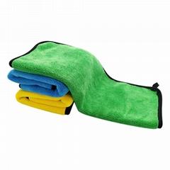 洗车40*30cm超细纤维加厚洗车毛巾绿黄蓝擦车毛巾家用摩托