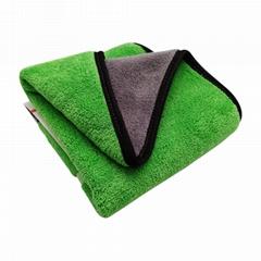 洗車毛巾汽車清潔布上光上蠟汽車護理包邊不掉毛雙色吸水巾