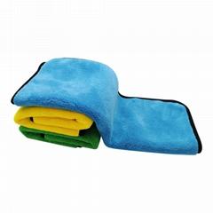 耐用超厚豪华车超细纤维清洁布洗车毛巾颜色随机汽车配件