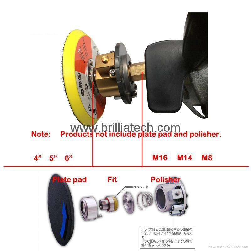 Marflo可調偏心轉換適合拋光海綿板砂光墊和拋光墊拋光機升級 9