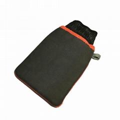 彩色魔泥超細纖維清潔洗車手套單面絨吸水密絨毛清潔布