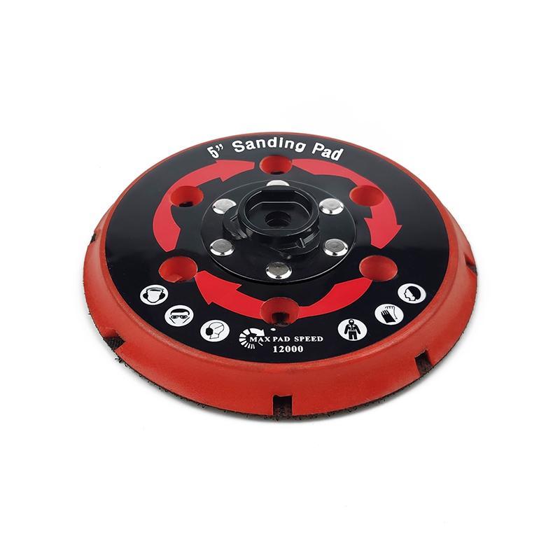拋光機墊板DA拋光機墊板電動打磨盤拋光植絨砂紙打磨機底盤 5