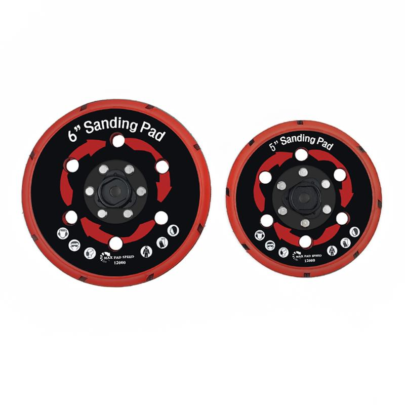 拋光機墊板DA拋光機墊板電動打磨盤拋光植絨砂紙打磨機底盤 3