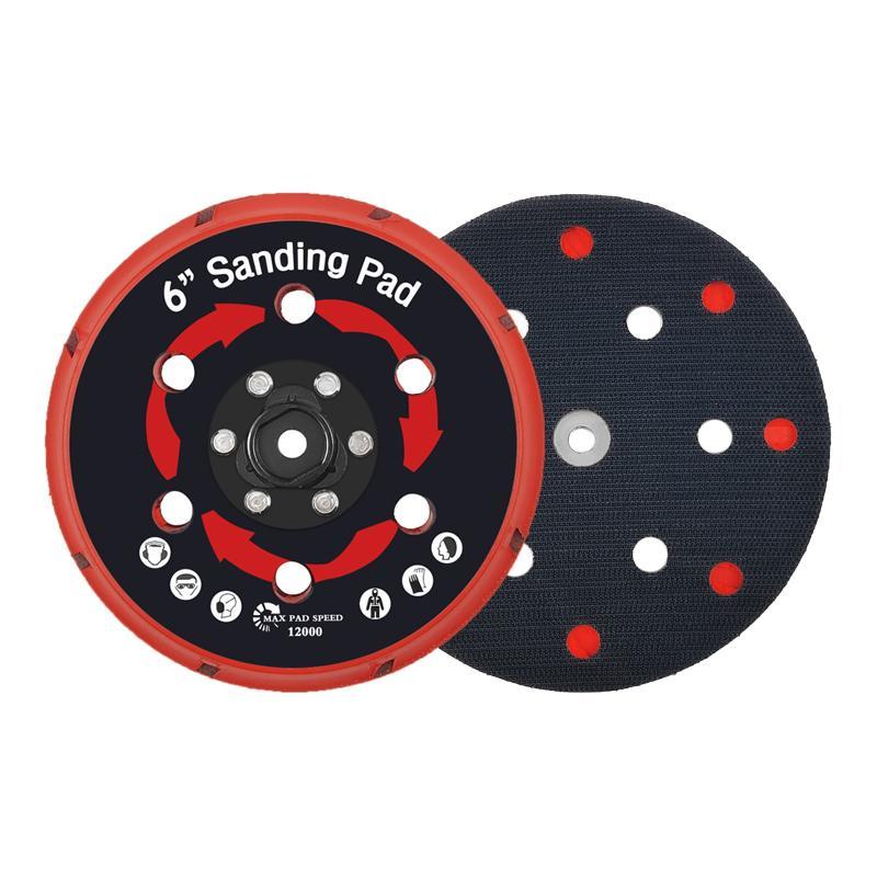 拋光機墊板DA拋光機墊板電動打磨盤拋光植絨砂紙打磨機底盤 1