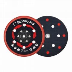 拋光機墊板DA拋光機墊板電動打磨盤拋光植絨砂紙打磨機底盤