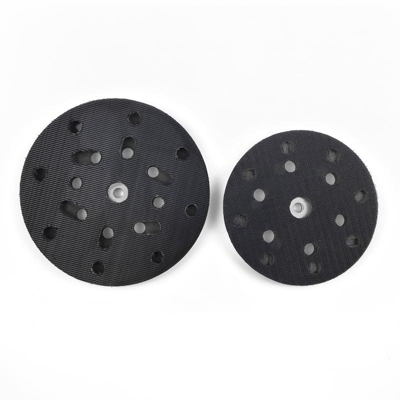 電動拋光盤5寸6寸背絨砂紙粘盤17孔15孔打磨盤底盤 4
