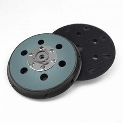 电动抛光盘5寸6寸背绒砂纸粘盘17孔15孔打磨盘底盘