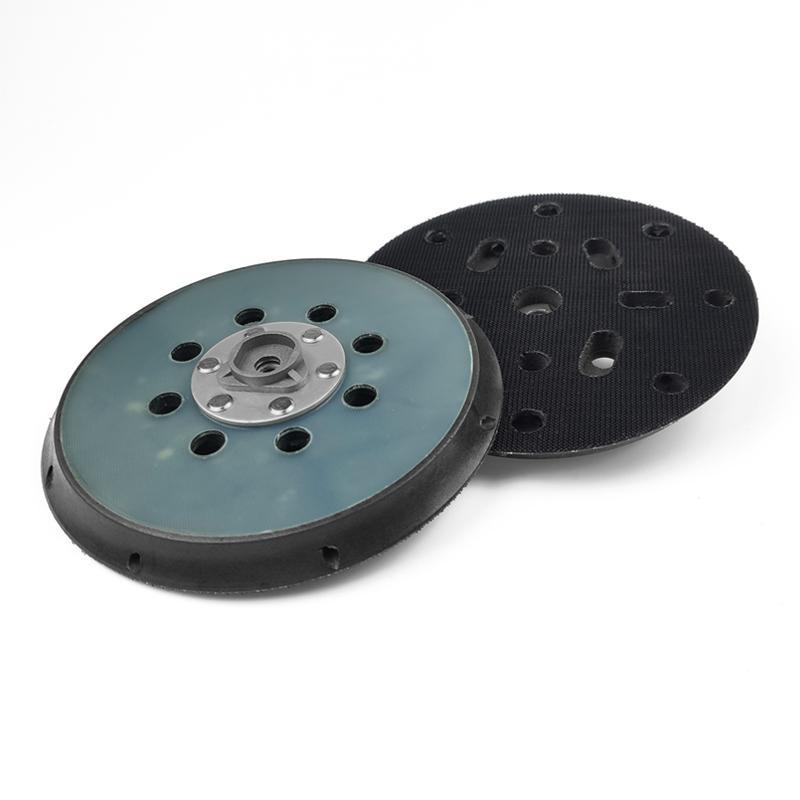 電動拋光盤5寸6寸背絨砂紙粘盤17孔15孔打磨盤底盤 2