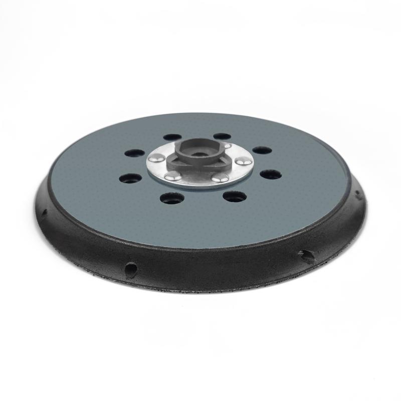 電動拋光盤5寸6寸背絨砂紙粘盤17孔15孔打磨盤底盤 5