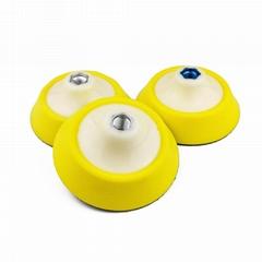 汽車高速拋光盤5寸軟邊打磨自粘盤圓形角磨機汽車磨光托盤吸盤