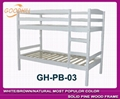 solid white color bunk bed in modern style 1