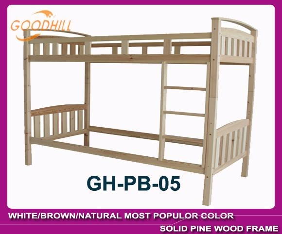 solid white color bunk bed in modern style 2