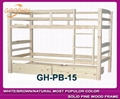 natural bunk bed with big drawers and